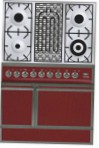 ILVE QDC-90B-MP Red Kitchen Stove \ Characteristics, Photo