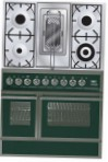 ILVE QDC-90RW-MP Green Kitchen Stove \ Characteristics, Photo
