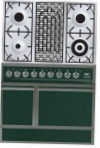 ILVE QDC-90B-MP Green Kitchen Stove \ Characteristics, Photo