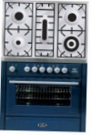 ILVE MT-90PD-MP Blue Kitchen Stove \ Characteristics, Photo