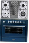 ILVE MT-90BD-MP Blue Kitchen Stove \ Characteristics, Photo