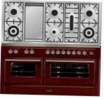 ILVE MT-150FD-MP Red Kitchen Stove \ Characteristics, Photo
