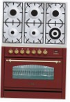 ILVE PN-906-VG Red Kitchen Stove \ Characteristics, Photo