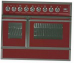 ILVE QDC-90FW-MP Red Kitchen Stove \ Characteristics, Photo