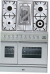 ILVE PDW-90R-MP Stainless-Steel Kitchen Stove \ Characteristics, Photo