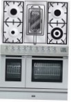 ILVE PDL-90R-MP Stainless-Steel Kitchen Stove \ Characteristics, Photo