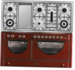 ILVE MCA-150FD-VG Red Kitchen Stove \ Characteristics, Photo